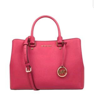 Michael Kors Saffiano Leather Lg Savannah Satch